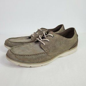 Clarks Men's Lace Up Boat Loafers Gray Size 13